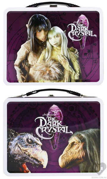 dark crystal lunch box tin carry