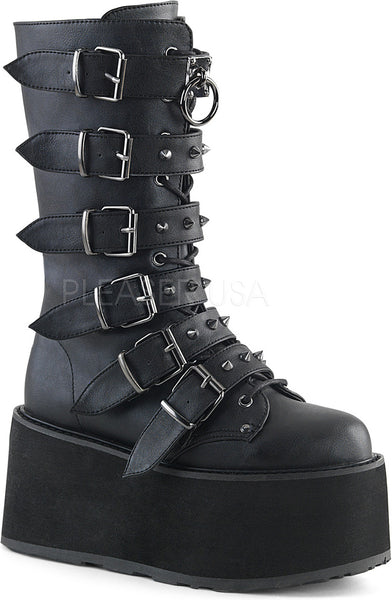 DAMNED-225 Black Vegan Leather