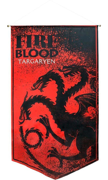 fire and blood banner