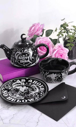 AS ABOVE TEAPOT AND CUP