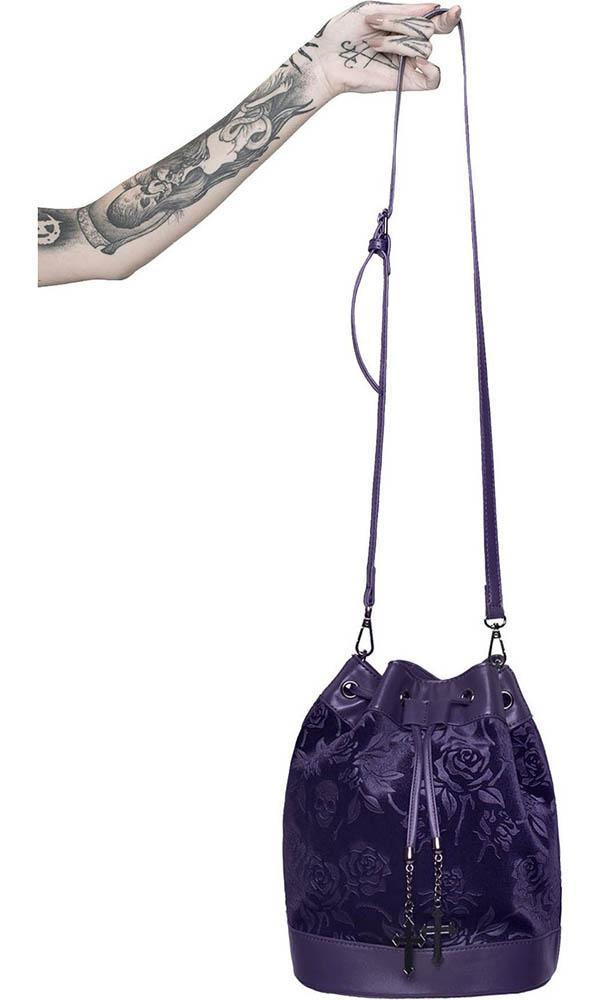 AT NIGHTFALL [PLUM] | VELVET HANDBAG buy online shop australia beserk killstar