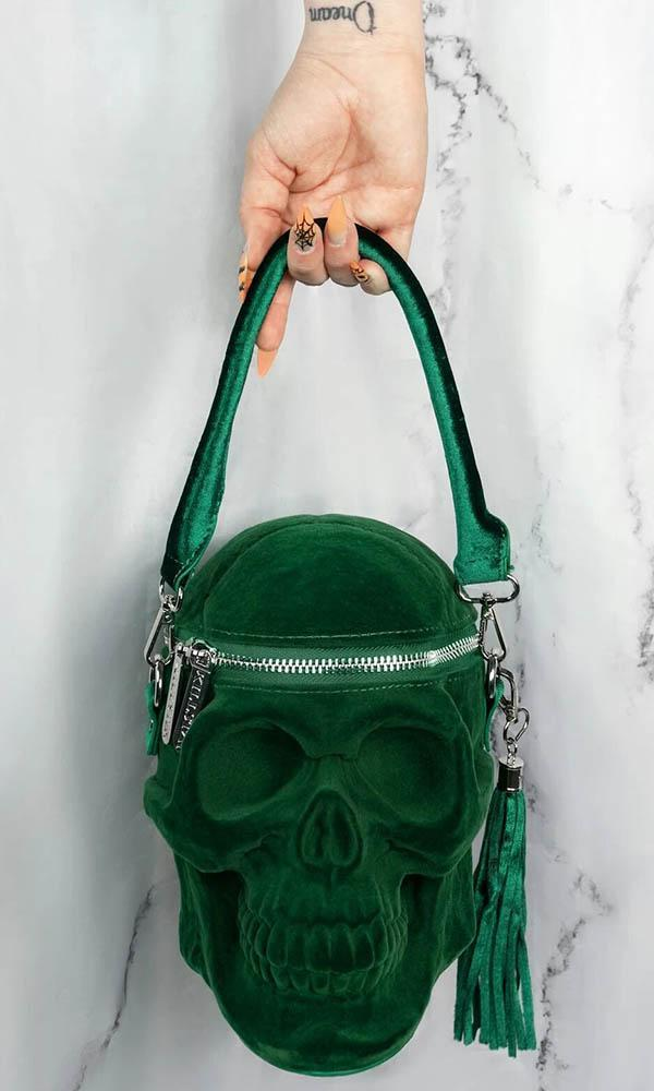 grave digger handbag green killstar