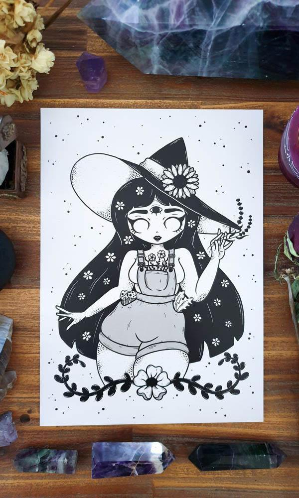 GREEN WITCH | ART PRINT