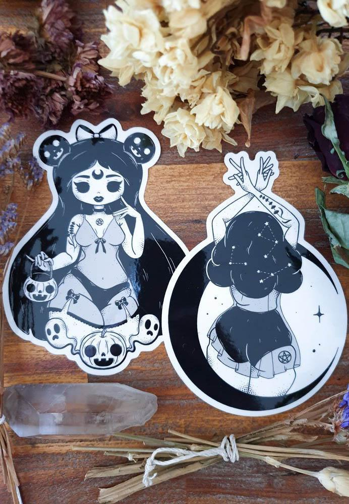 TRICK OR TREAT & MOON GODDESS | STICKER PACK