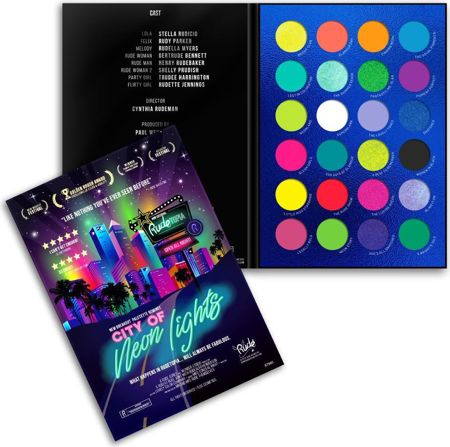 city of neon lights eyeshadow palette