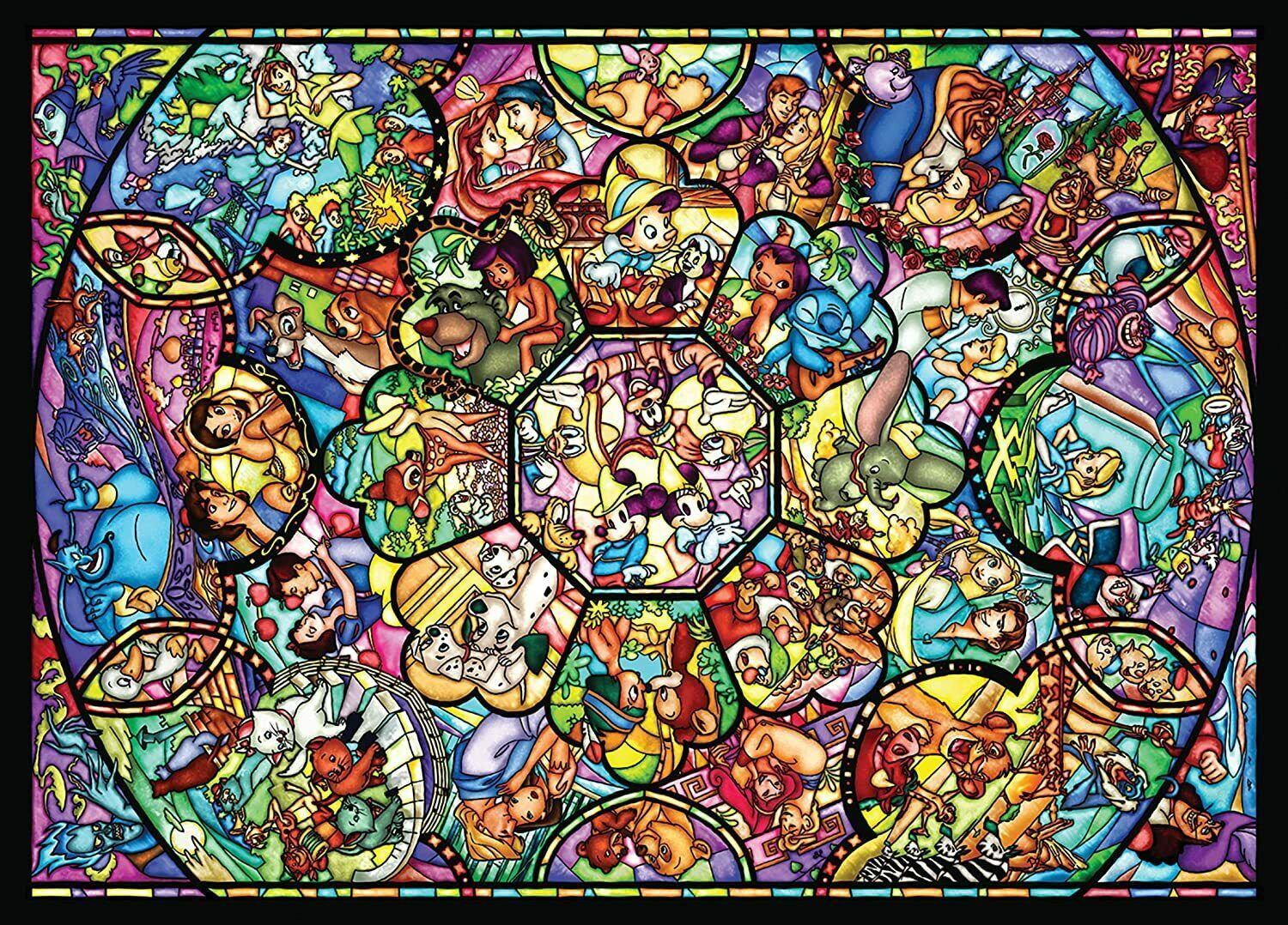 DISNEY | ALL STAR STAINED GLASS [1000 PCE] PUZZLE