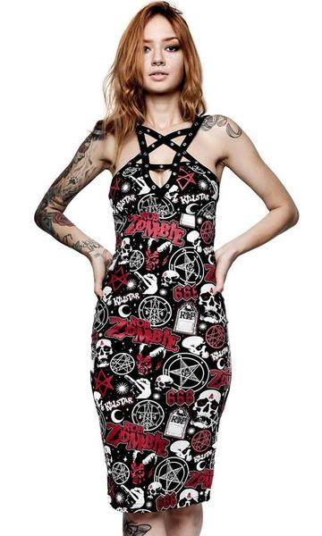 demonoid midi dress