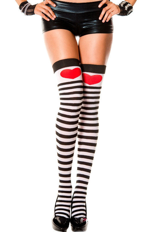 THIGH HIGHS | Sweetheart Striped