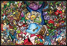 Disney | Alice in Wonderland Stained Glass [1000 Pce] PUZZLE