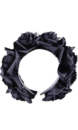 Black Roses Wreath | HEADBAND