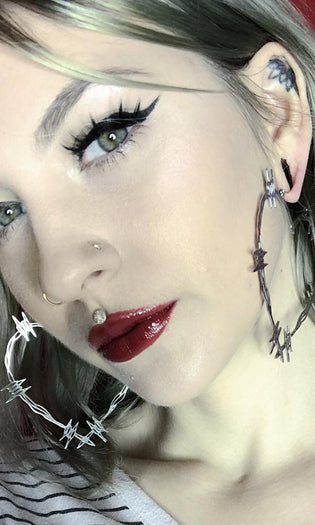 Barbwire Heart Plug Friendly Oversized Hoop | EARRINGS