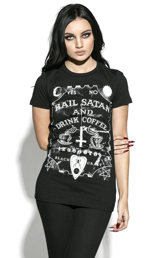 Hail Satan & Drink Coffee | T-SHIRT LADIES