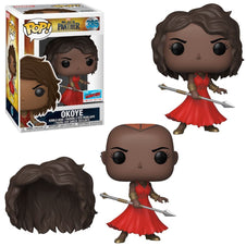 Black Panther Okoye w/Red Dress NYCC 18 Exclusive Pop! [RS]*