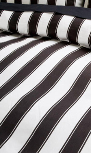 Black and White Striped | DOUBLE/QUEEN DUVET COVER