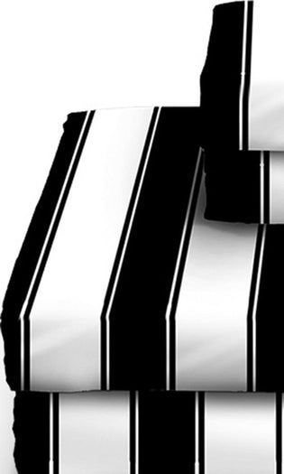 Black and White Striped | DOUBLE/FULL SHEET SET