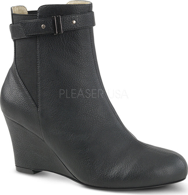 KIMBERLY-102 Black Faux Leather