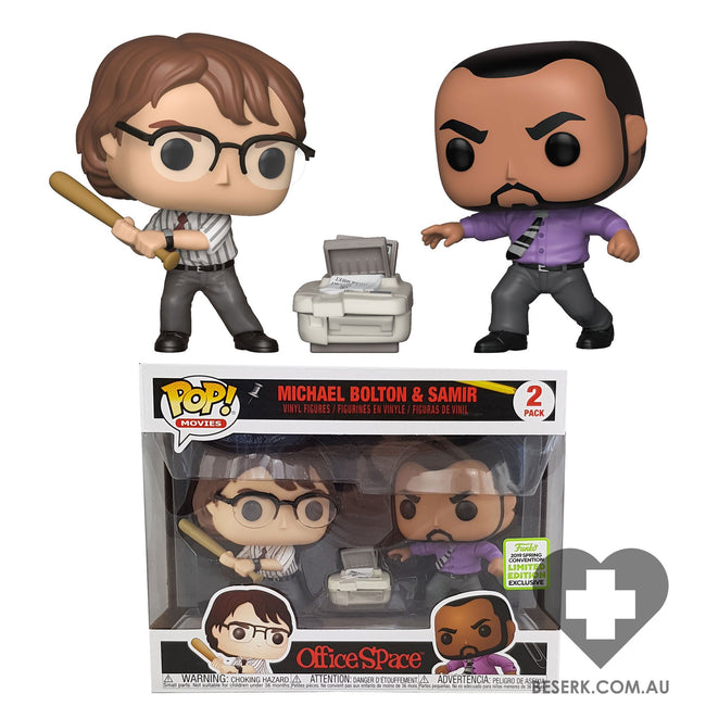 Office Space - Samir & Michael Pop! 2pk | ECCC 2019 Spring Convention Exclusives [RS]*