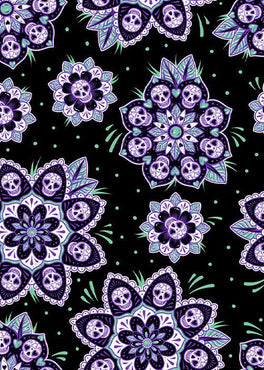Skull Mandala | QUEEN QUILT SET