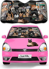 Car Full of Cats Auto Sunshade