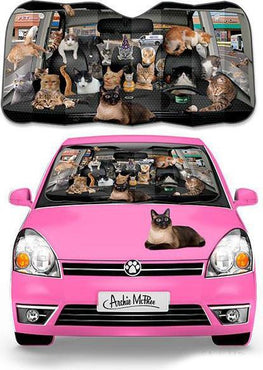 Car Full of Cats | AUTO SUNSHADE