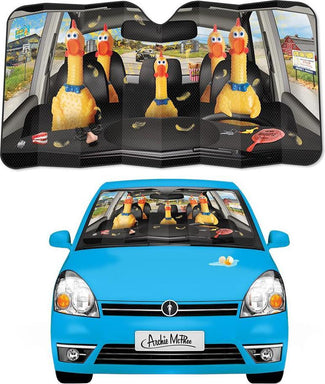 Car Full of Rubber Chickens | AUTO SUNSHADE