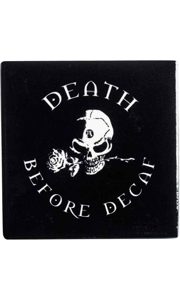 Death Before Decaf | CERAMIC COASTER