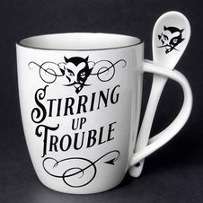 Stirring Up Trouble | MUG AND SPOON SET