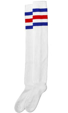 American Pride [White With Blue/Red] | ULTRA HIGH SOCKS