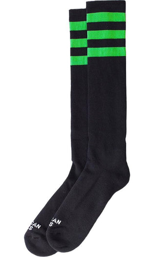 Ghost Busters [Black With Green] | KNEE HIGH SOCKS