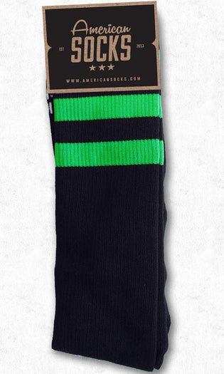 Ghost Busters Black With Green | KNEE HIGH SOCKS