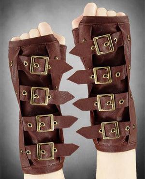 Brown Strapped Buckles