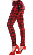 Red Check | SKINNY JEANS