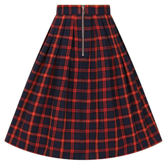 Christmas Red/Navy Check | SKIRT