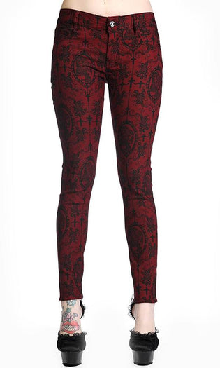 Cross Cameo [Burgandy] | PANTS