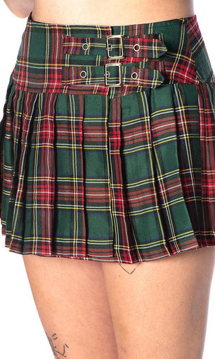 Green Tartan | MINI SKIRT