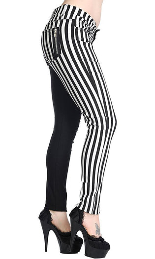 Half Black Half Striped | TROUSERS
