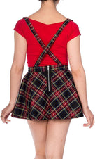 Highlife [Black Tartan] Pinafore | SKIRT