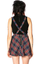 Highlife [Navy Tartan] Pinafore | SKIRT