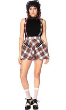 Highlife [White Tartan] Pinafore | SKIRT