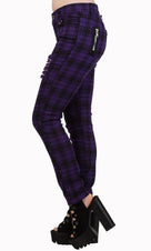 Move On Up [Purple Check] | JEANS