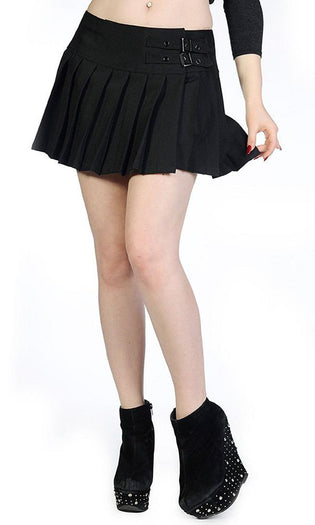 Buckle [Black] | MINI SKIRT