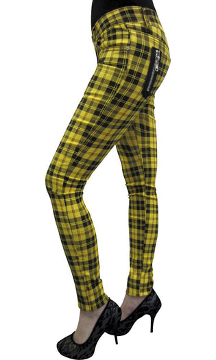Yellow Check Skinny | JEANS
