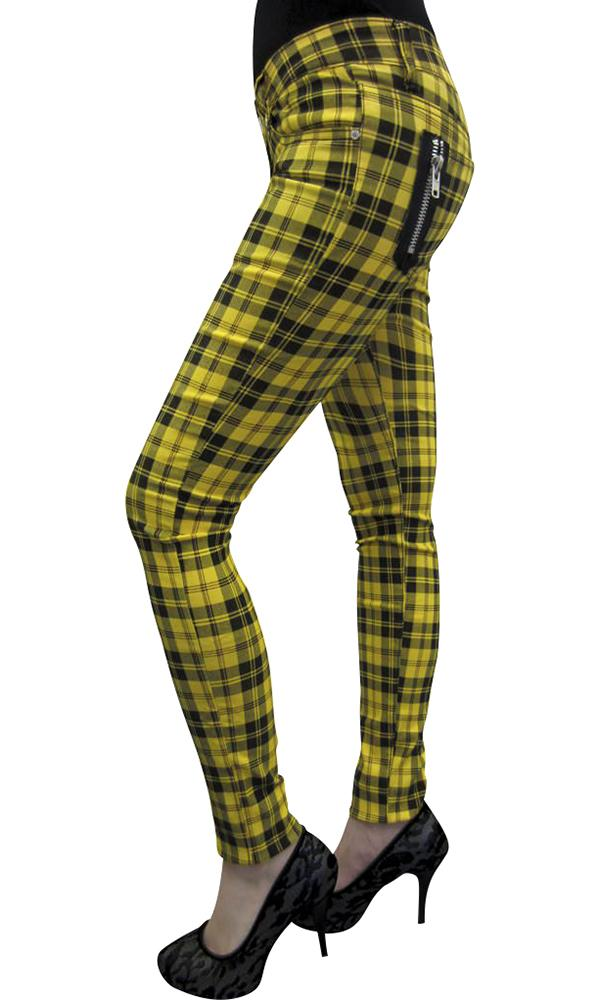 Yellow Check | SKINNY JEANS