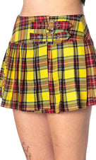 Yellow Tartan | MINI SKIRT