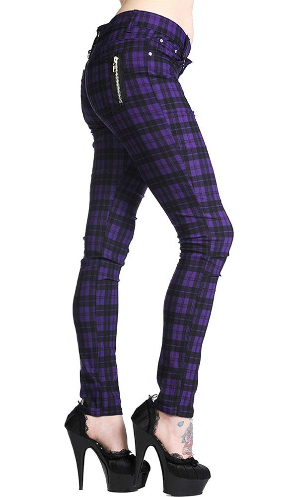 Purple Check | SKINNY JEANS