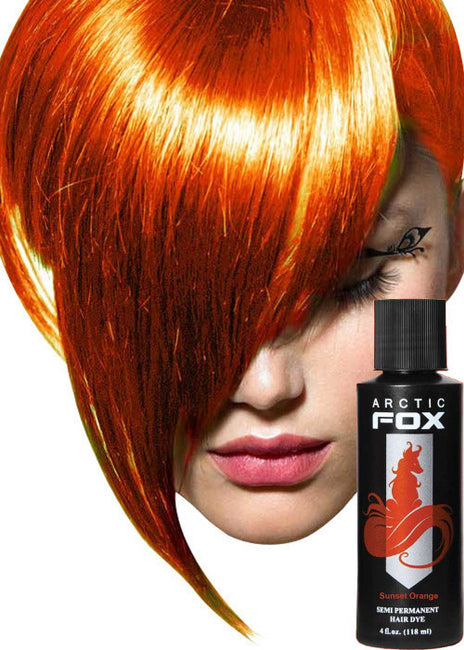 Sunset Orange Hair Colour