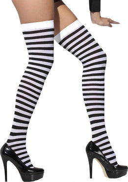Black & White Striped Opaque | HOLD-UPS