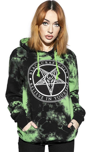 Believe In Yourself Green Lightning Dye | HOODED PULLOVER