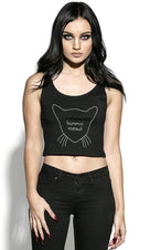 Bummin Meowt Sleeveless | CROP TOP