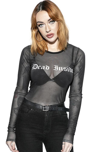Dead Inside | Mesh LONG SLEEVE TEE